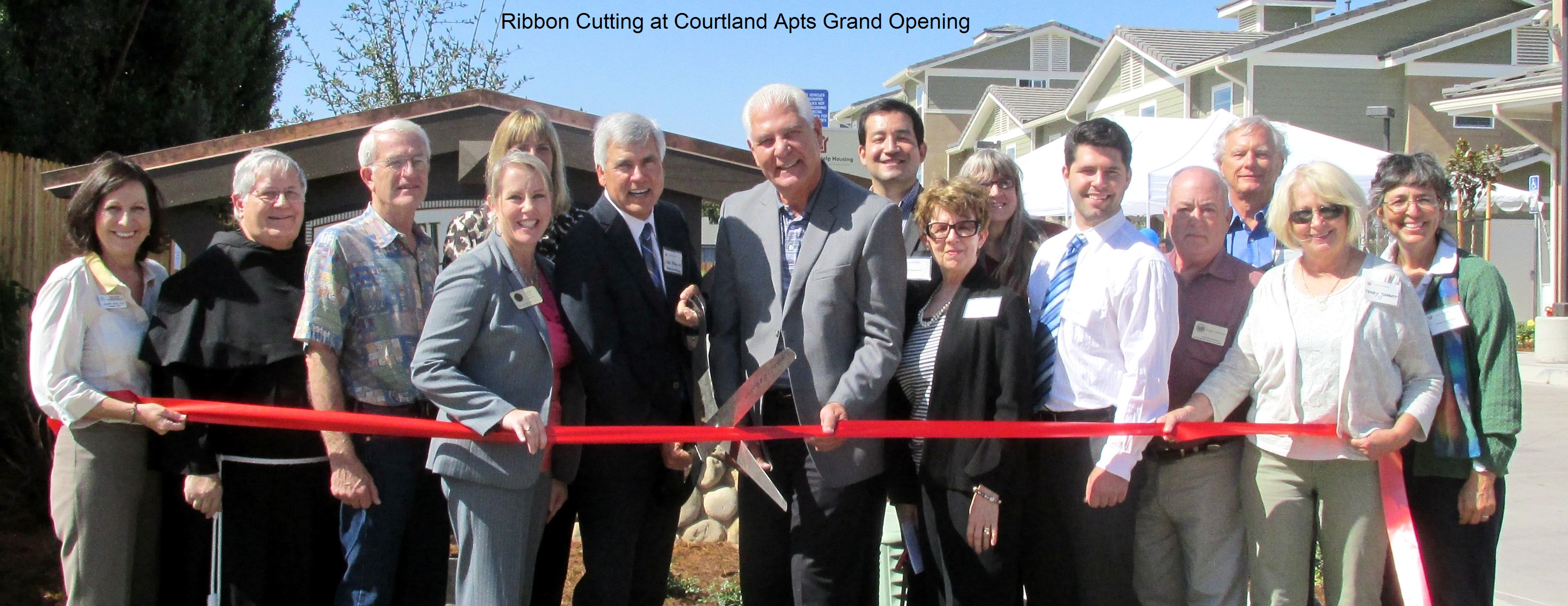 Ribbon Cutting at Courtland Apartments Grand Opening