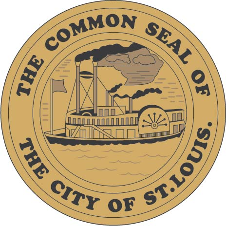X33156 - Carved Wooden Wall Plaque of the Seal for the City of St. Louis, Missouri