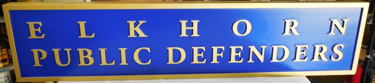A10906 - Carved HDU Sign for Public Defenders