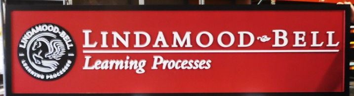 "S28112 - Carved  HDU Commercial Sign  for the "" Lindamood-Bell Learning Processes"" ,  2.5-D and Engraved, Artist-Painted"