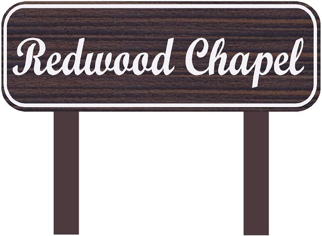 GC16340 - Carved HDU Chapel Identification Sign