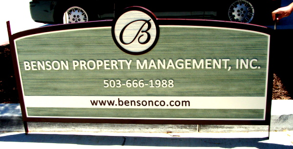 C12316 -  Sandblasted HDU Sign for Property Management Office