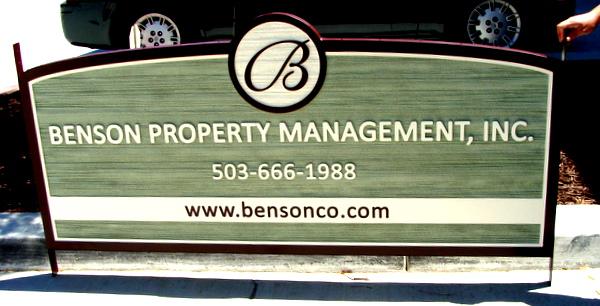 C12316 -  Sandblasted HDU Sign for Property Management Office