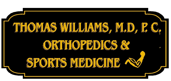 B11031 - High-Density-Urethane sign for Orthopedic and Sports Medicine medical practice