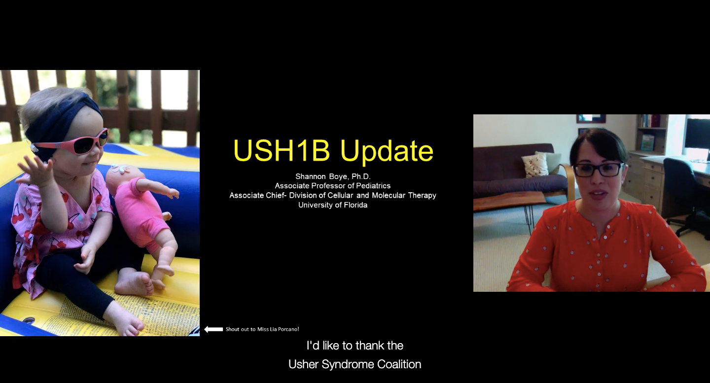 USH1B Update With Shannon Boye, PhD