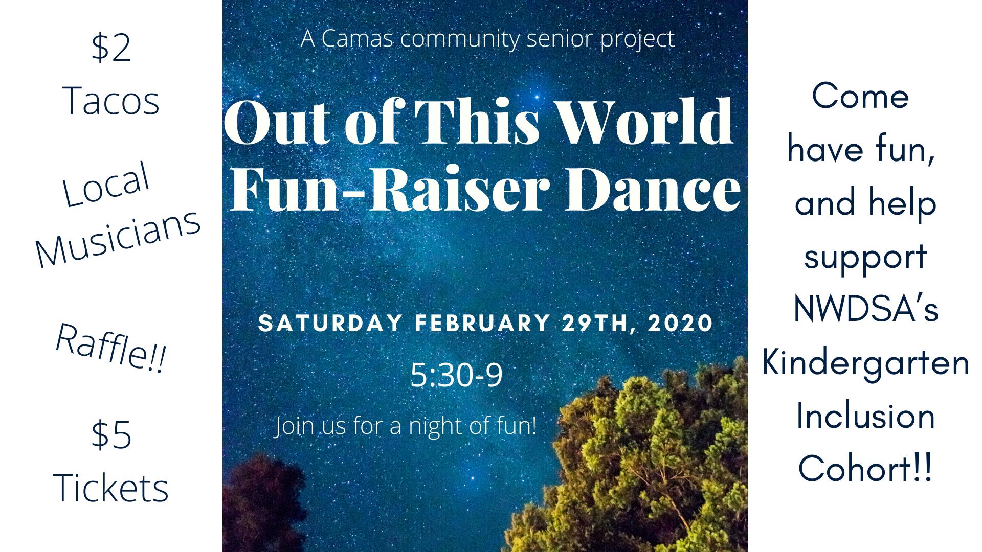 Out of This World Fun-Raiser Dance!
