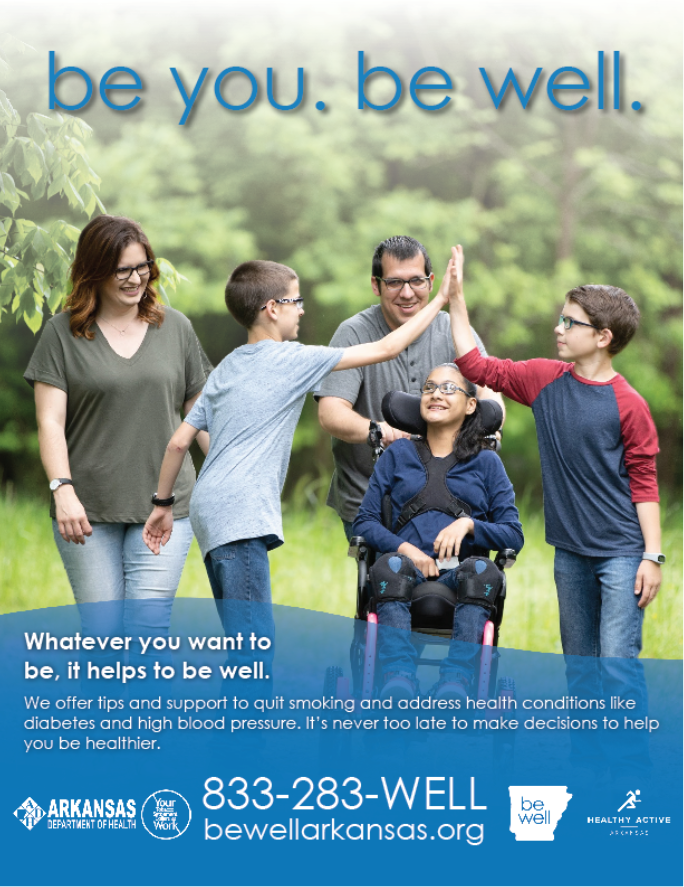 Be Well Family Walking Poster