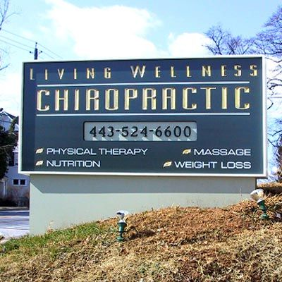 Living Wellness Chiropractic sign