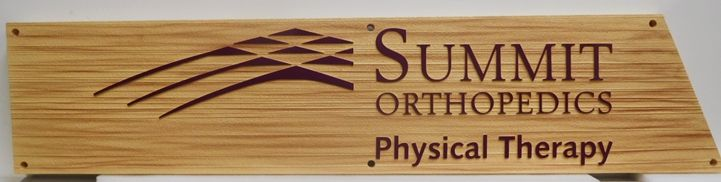 """B11089 - Carved and Sandblasted Wood Grain  Sign for """"Summit Orthopedics"""""""