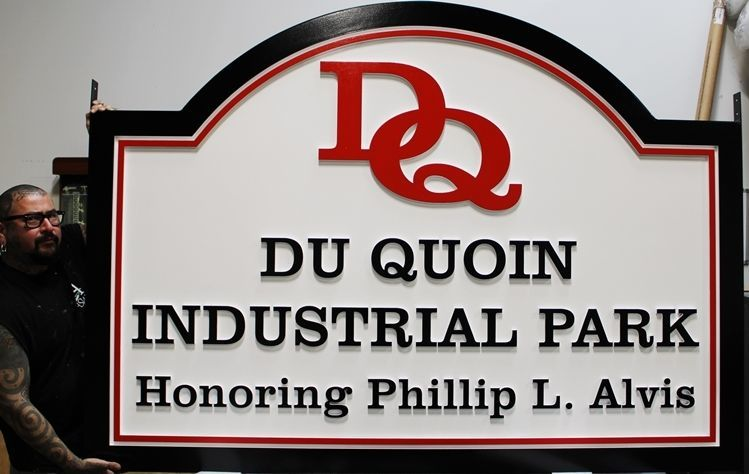 S28194 - Large 2.5-DHDU  Sign for the Du Quoin Industrial Park