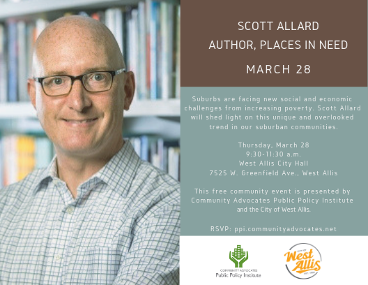 A Conversation with Scott Allard, Author, Places in Need: The Changing Geography of Poverty