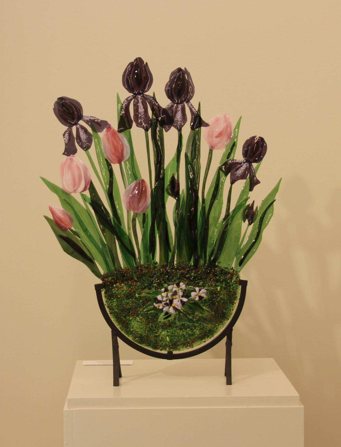 Pink Tulips & Iris