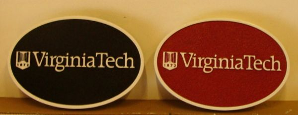 RP-1760 - Carved Wall Name Plaques for  Virginia Tech, Artist Painted