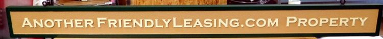 C12480- Carved and Sandblasted HDU Leasing Wall Sign