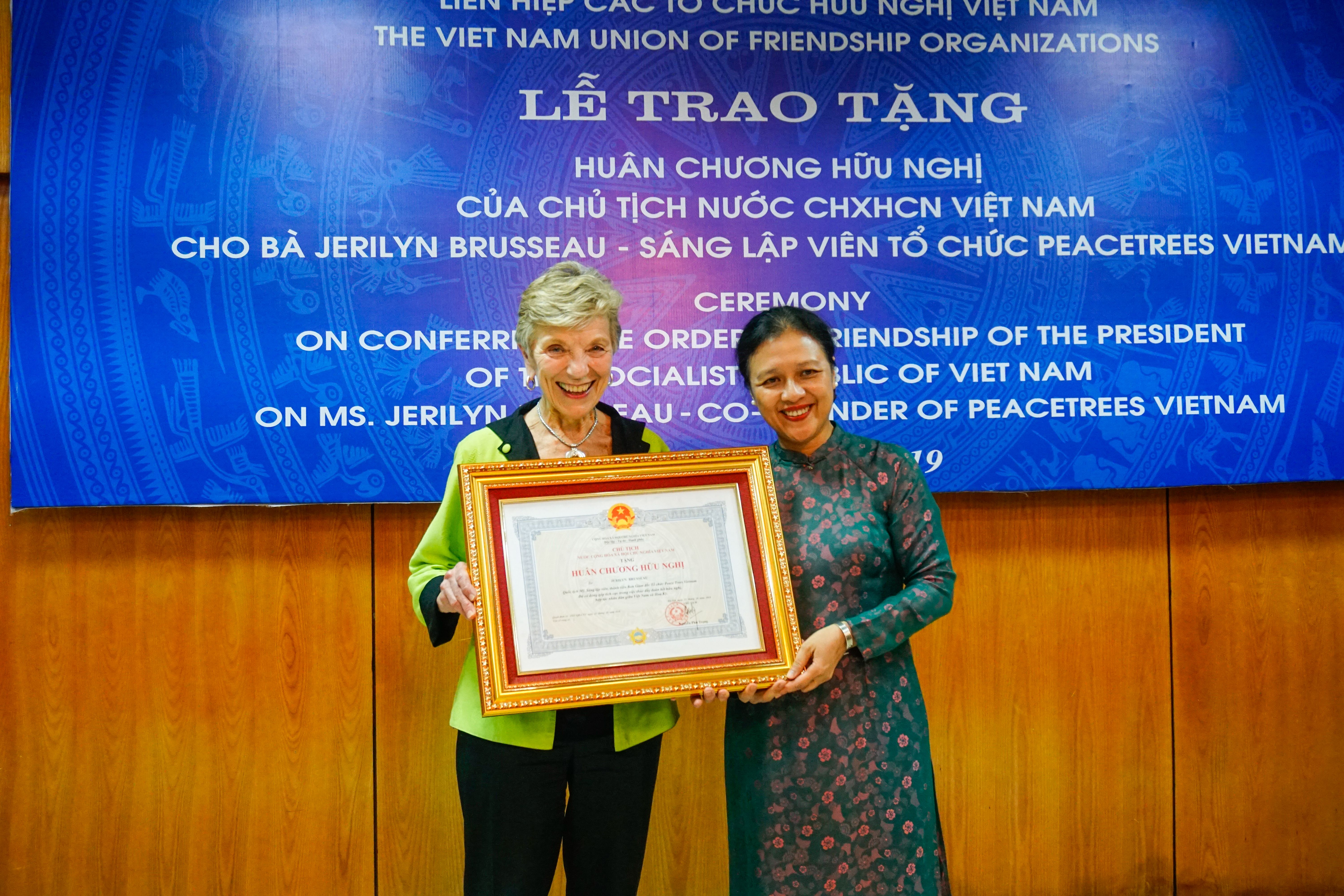 Vietnam honors PeaceTrees Vietnam Founder