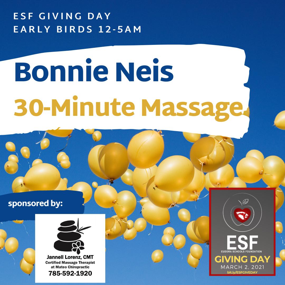 Early Bird - 30 Minute Massage