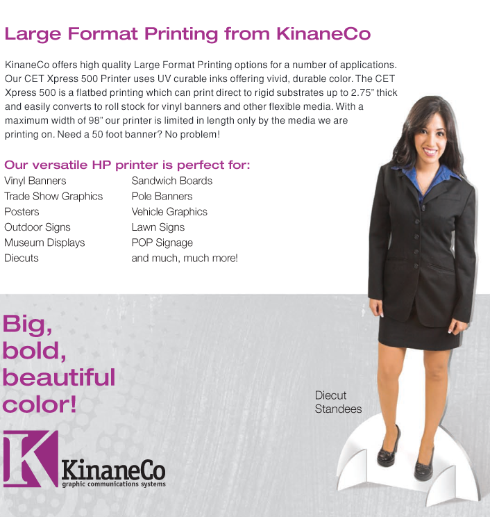 Large Format Printing, Banners, Standees, Signs