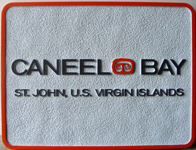 "T29111- Carved  and Sandblasted  HDU Sign for the ""Caneel Bay Inn""."