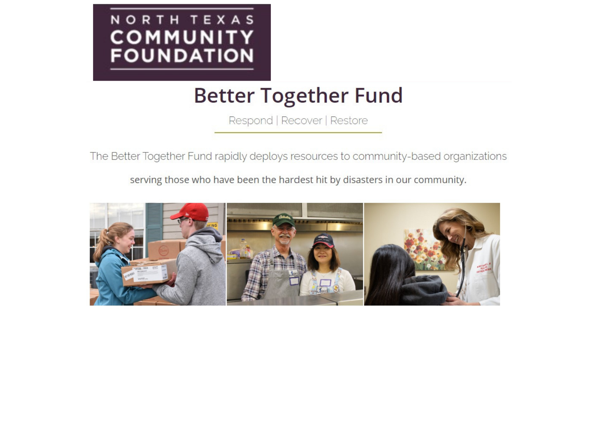 Better Together Fund at North Texas Community Foundation
