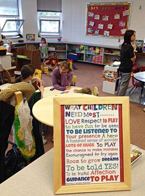 Henning Preschool classroom