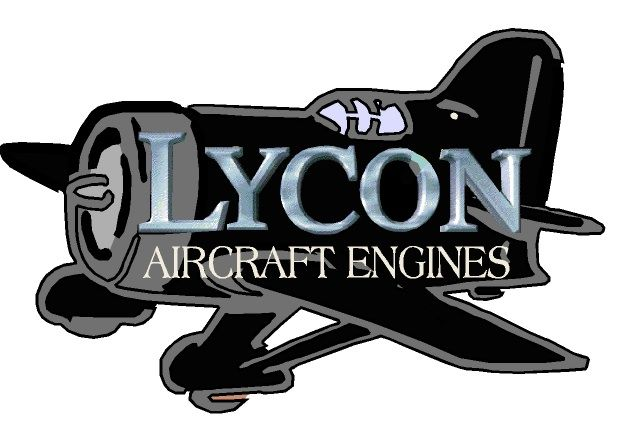 """SA28653 - Carved Airplane Sign for """"Lycon Aircraft Engines"""", with Aluminum Facing on Text"""