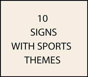 10. - I18650 -  House  Address Signs Sports Themes (Golf, Football, Baseball, Basketball, Soccer)