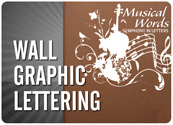 Wall Graphic Lettering