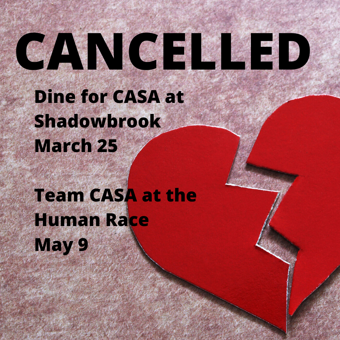 Taking care of each other by cancelling Shadowbrook and Human Race events