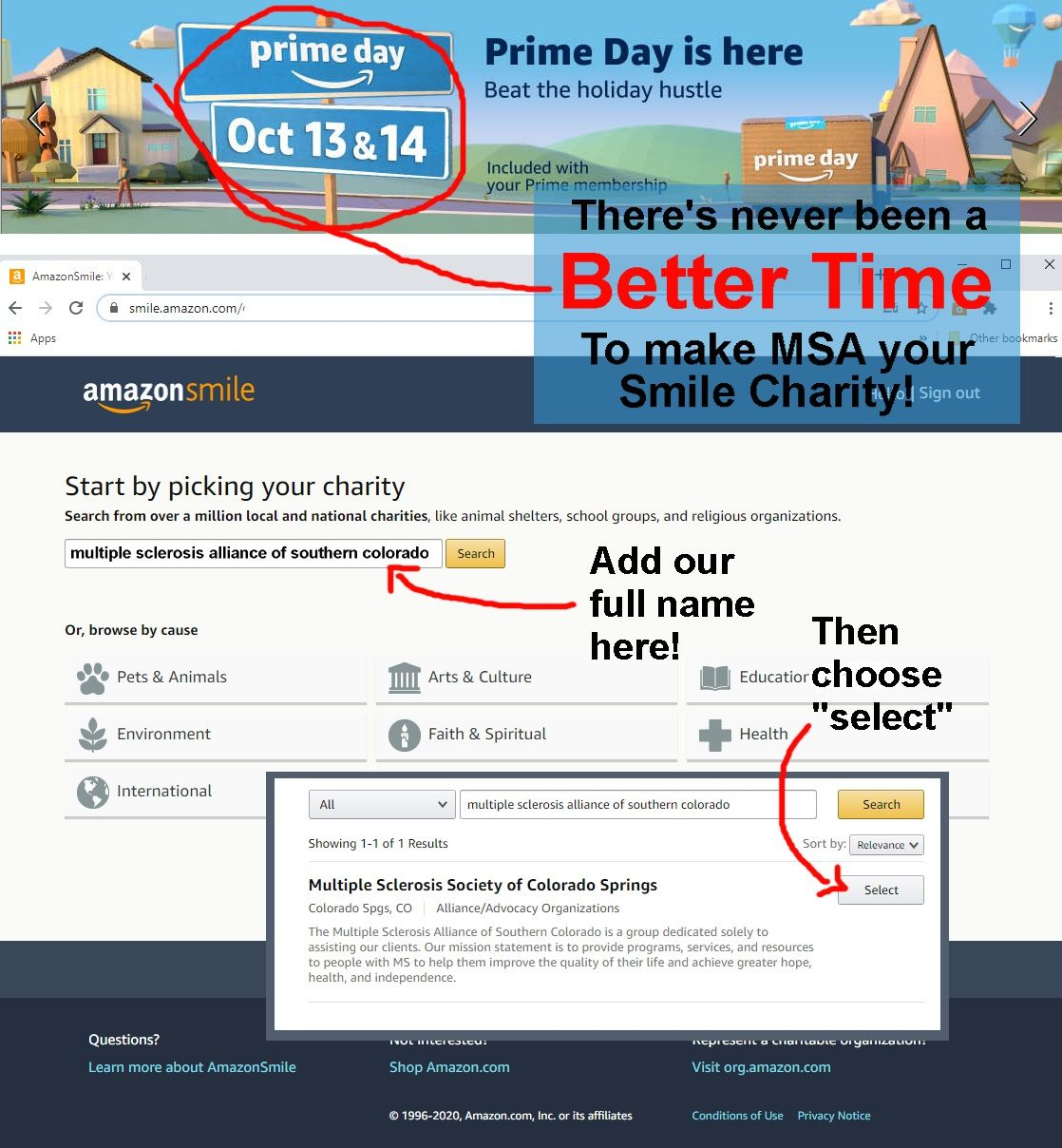 Make Us Your Amazon Charity!