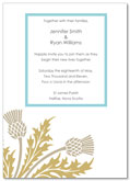 Thistle wedding invitation | Kwik Kopy Design and Print Centre Halifax