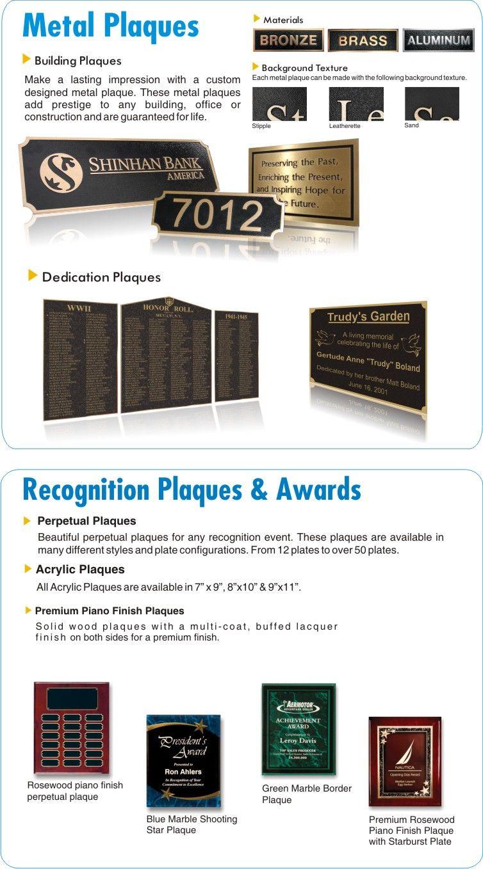 Metal Plaques - Recognition Plaques