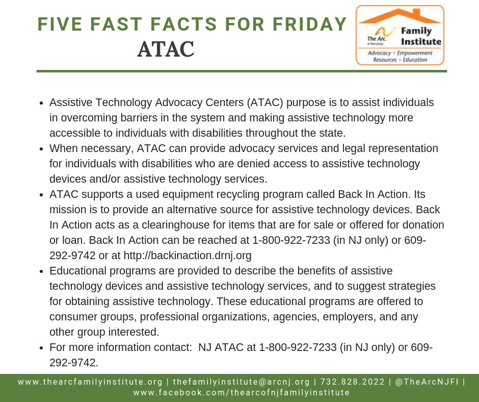 Assistive Technology Advocacy Centers (ATAC)