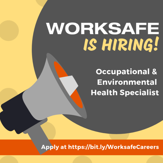 Work at Worksafe!