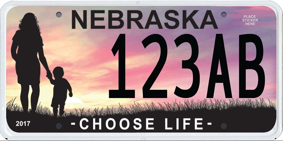 Order your Choose Life license plate today!