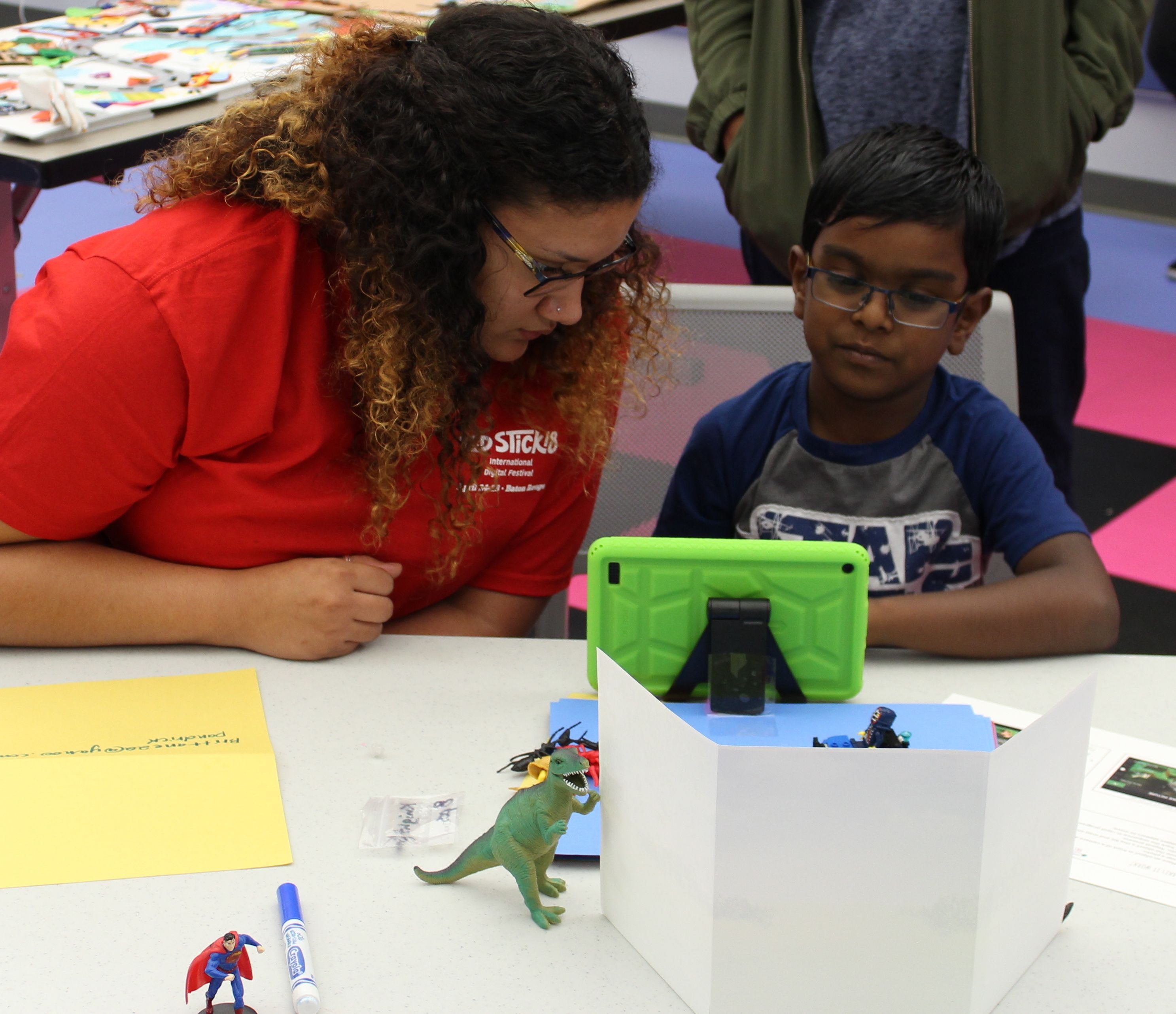 Participant with Kaitlyn Arender, Capital One Volunteer