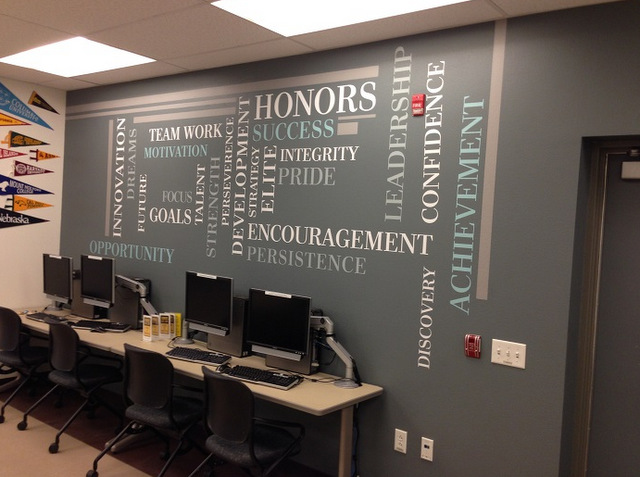 Wall graphics for schools in Orange County