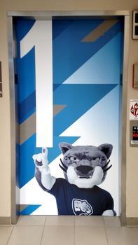 Augusta University Elevator Wrap