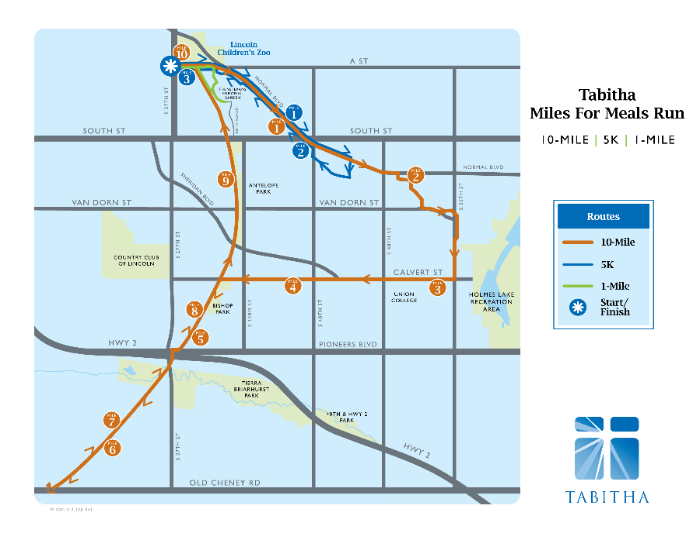 Tabitha Miles for Meals Run Course Map