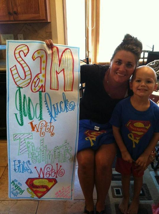 Thank you Amy for all you have done in the fight. Amy designed the Sammy's Superhero…