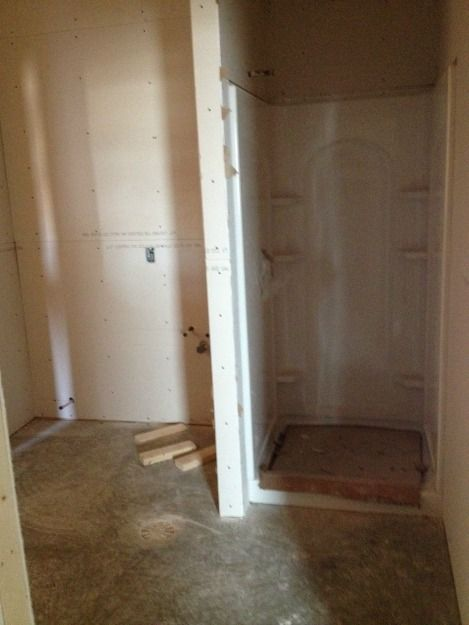 Bathroom with shower for contract staff