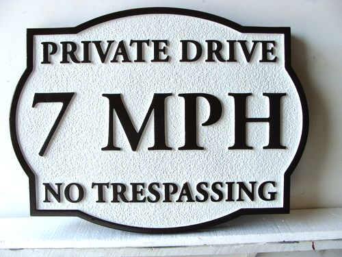 KA20679 - Custom Wood Speed Limit Sign for Residential Streets
