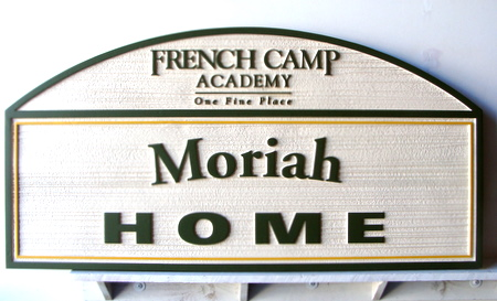 FA15605 - Carved Wood Sign for French Camp Academy