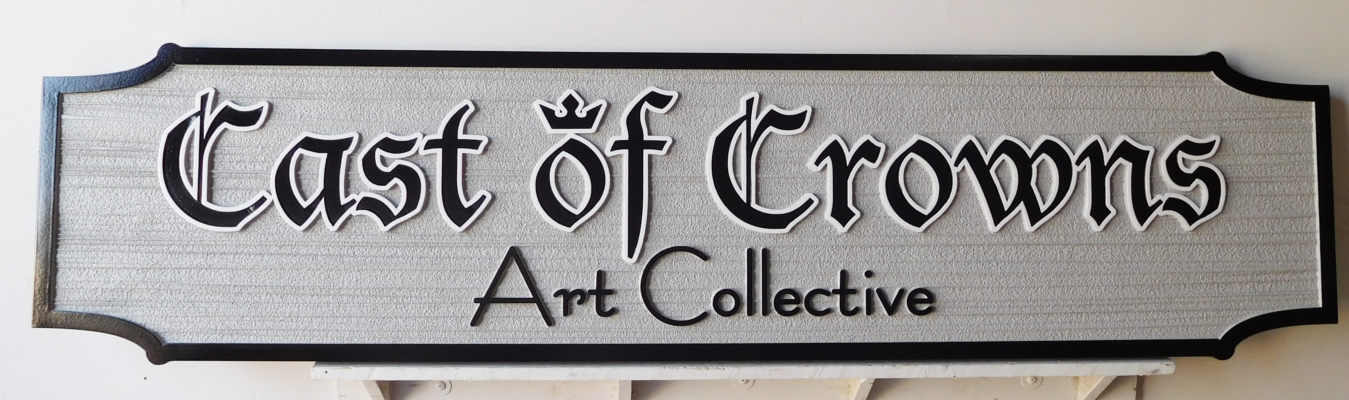 "SA28424 -  Carved and Sandblasted HDU Sign for the ""Cast of Crowns Art Collective"""