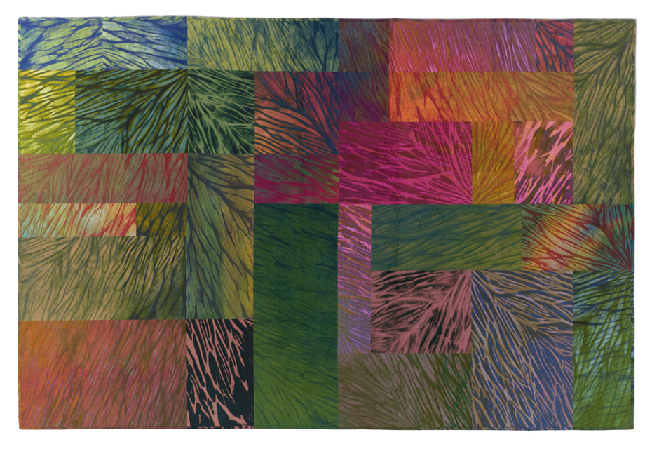 'Wildfire,' made by Jan Myers-Newbury, made in Pennsylvania, 2008, shaped-resist dyed, machine pieced and quilted, 48.5 x 72""