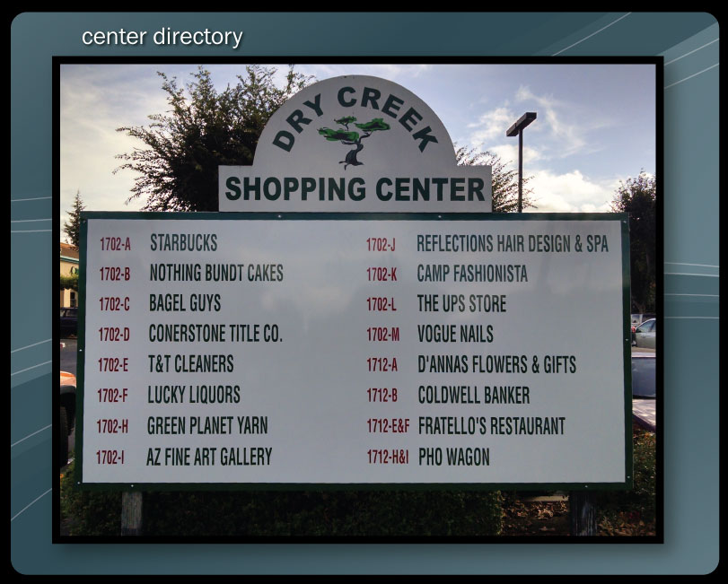 SHOPPING CENTER SIGNS