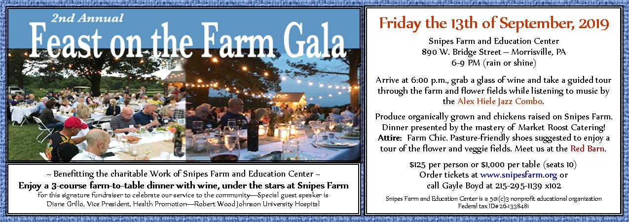 FEAST ON THE FARM - Our signature farm-to-table dinner. Tickets sold out. Sign up for our waiting list.