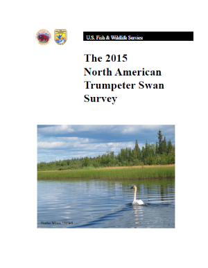 The 2015 North American Trumpeter Swan Survey summarizes swan population numbers across North America