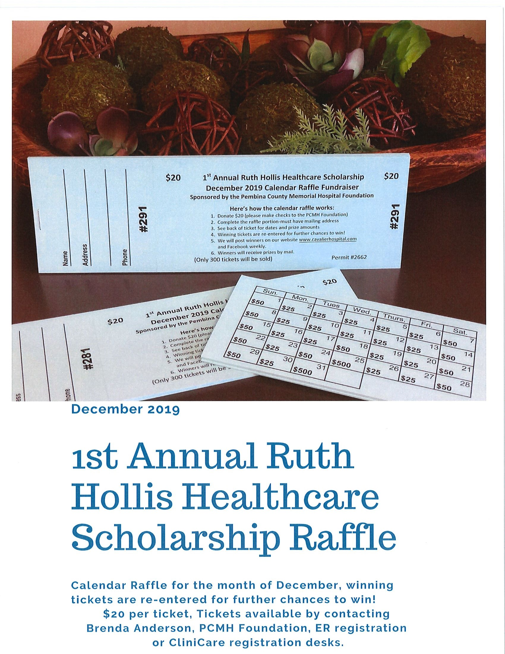 1st Annual Ruth Hollis Healthcare Scholarship Raffle