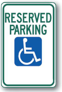 Handicap Reserved Parking-12 inch x 18 inch