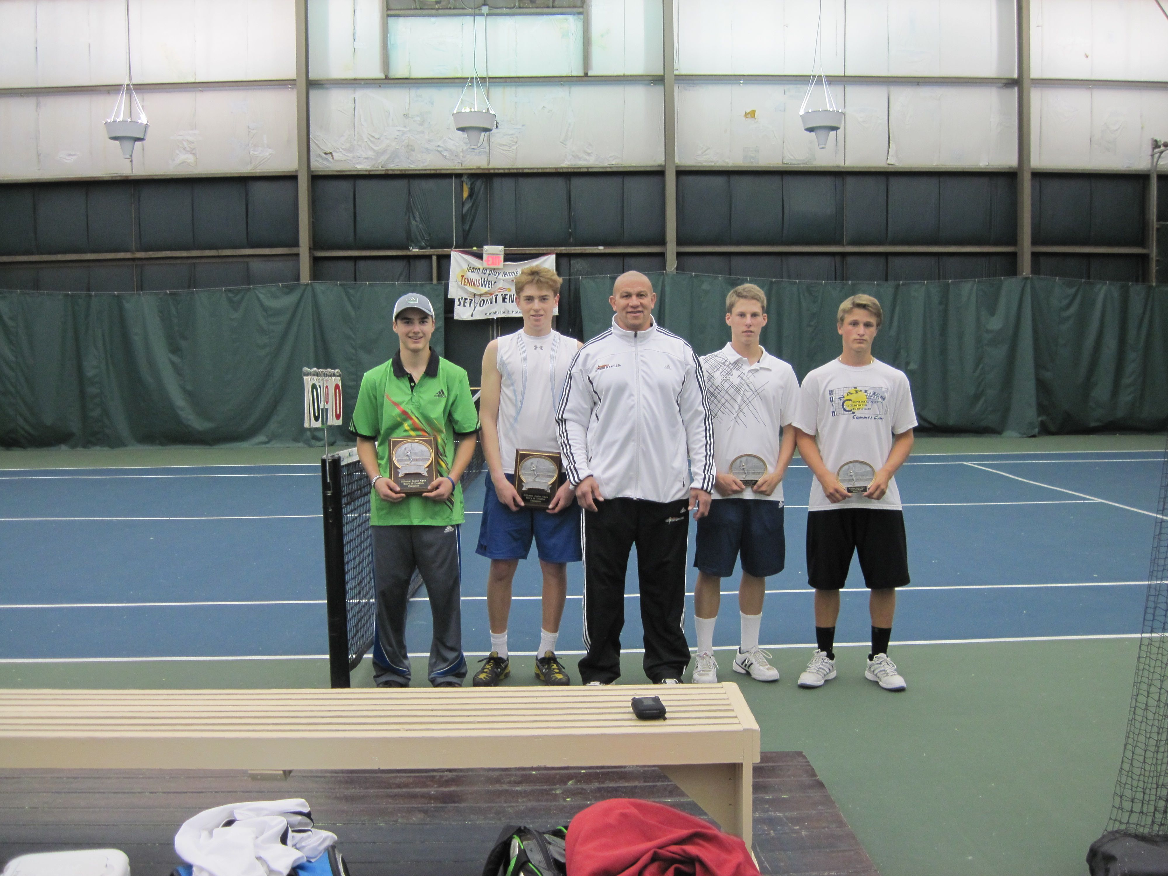 Boys 16 Level 4 Tennis Tournament Doubles Champions and Runner-ups